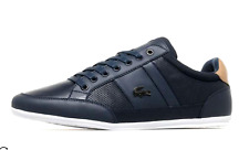 Lacoste Chaymon 217 2 JD SPM Mens UK 8 EU 42 Navy Tan Leather Sneakers Trainers