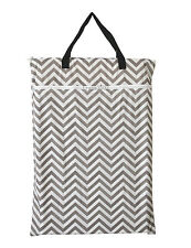 1 Large Hanging Wet/Dry Pail Bag Cloth Diaper,Insert,Nappy,Laundry,Gray Chevron