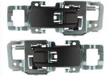 Front or Rear Inner Door Handle Set Black 05-09 Equinox Driver + Passenger Side