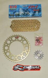 DID Gold 520 Race Chain& Renthal Sprocket Kit for GSXR 1000 09-16 K9-L6