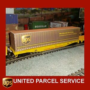 UPS United Parcel Service Model Shipping Containers 40ft x5 Scale HO 1:87