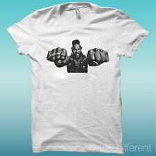 """T-SHIRT """" MR.T BARACUS A-TEAM """" BLANCO THE HAPPINESS IS HAN MY T-SHIRT NEW"""