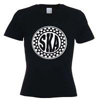 SKA WOMENS T-SHIRT - 2 Tone Mod Specials Madness Skinhead Rude Boy - Sizes S-XL