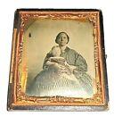 Slave Civil War Era - 6th. P. Ambrotype African American Black Nanny White Baby.