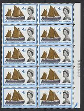 1963 Lifeboat Conference (ord) W35a. 4d Spot on Boom variety MNH block x 10.