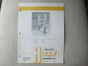 Caterpillar D4 D7 D6 tractor Holt Machinery stinger spec sheet brochure