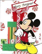 Handmade Mickey Mouse Presents Card Merry Christmas A2