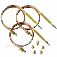 3 x UNIVERSAL Thermocouple Kit 600mm & Fixings Gas Boiler Oven Cooker Grill