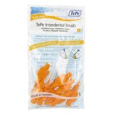 TePe Interdental Brushes 0.45mm Orange - 1 pack of 8 Brushes - Great Price