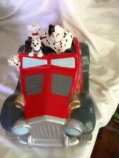 Rare Disney 101 Dalmatians Cruella de Ville Dalmatian Puppies Cookie Jar