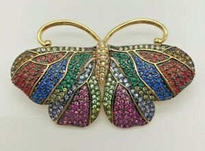 Vintage Signed Joan Rivers Broach Critter Collection Butterfly Broach Pin jw133