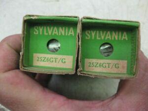 2 Sylvania  rca GE 25Z6GT Vintage Vacuum Tube NOS