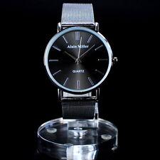 Alain Miller Damenuhr Meshband Milanaise Armband Farbe: Silber Schwarz