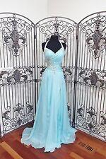 BD412 CASSANDRA STONE 64833 SZ 4 AQUA $418 #1672  PROM  DRESS GOWN NWT