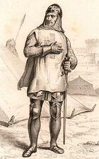 Portrait XIXe Godefroy de Bouillon Roi de Jérusalem Croisade Saint-Sépulcre 1839