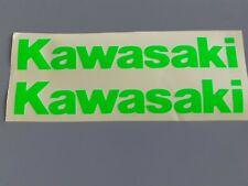 Hochwertige Premium Kawasaki Motorrad Aufkleber-Sticker in neo Grün