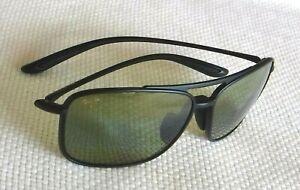 Nice Maui Jim Kaipo Gap Sunglasses Black Frames / HT Maui Green Lens MJ 437-2M