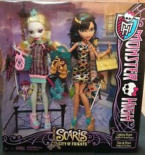 MONSTER HIGH SCARIS CITY OF FRIGHTS LAGOONA BLUE & CLEO DE NILE 2 PACK BNIB