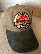 8fa7220fd09 Jurassic Park Hat Trucker Embroidered Patch Cap Dinosaur Movie Olive Tan