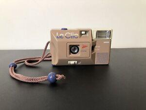 Vintage (Le Clic) Brown Tan + Lavender Purple Camera 80's Retro - TESTED! CLEAN!