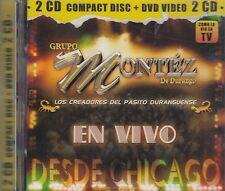 Grupo Montez De Durango Los Creadores Del Pasito Durangiemse En Vivo 2CD New