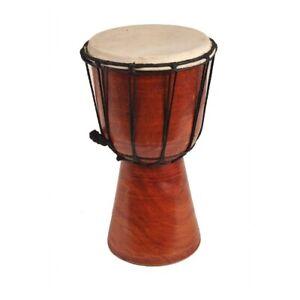 Djembe Trommel Bongo Afrika Holz unbemalt Drum Klang Instrument Musik Rhythmus