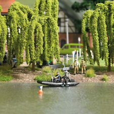 Busch 5485 Lake with fahrendem Police Boat, Model Construction Set 1:87 (H0)