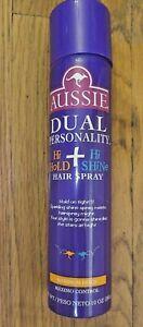 Aussie Dual Personality Hi Hold + Hi Shine hairspray Maximum hold 10fl oz NEW