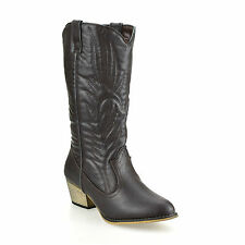 Mid-Calf Pull On Boots for Women