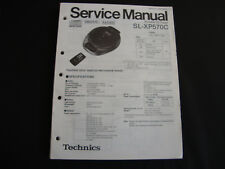ORIGINALI service manual TECHNICS sl-xp570c