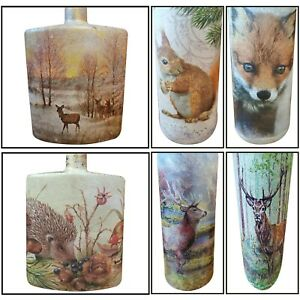 FOX, HEDGEHOG, STAG, SQUIRREL, RABBIT, DEER, HIGHLAND COW, BOTTLE LAMP WOODLAND