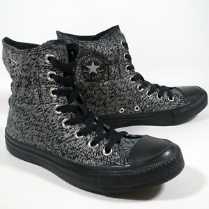 Converse All Star Black Reflective Scrunch High Top Sneakers Boots Size UK 4