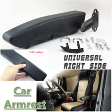Right Side Adjustable Black PU Leather Console Box Seat Armrest For Car Caravan