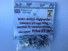 EWM Ww1brit05 1/76 Diecast WWI British Highland Infantry 10 Man Rifle Section