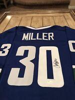 Ryan Miller Autographed/Signed Jersey JSA Sticker Vancouver Canucks