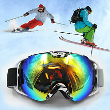Anti-fog Wind Dust UV Lens Surfing Jet Ski Goggle Snow Snowboard Glasses Eyewear