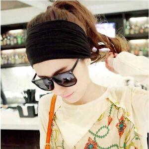 Yoga Hair Band Head Scarf Wrap Elastic Band Bandana Cap Multi Use Headwrap