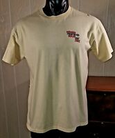 e481ac6a Columbia Records Winter Tour 2002 Yellow T-Shirt Sz L -Artist List On Back
