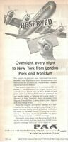 1957 Original Advertising' Paa Pan American Airline Company Aerial Reserved
