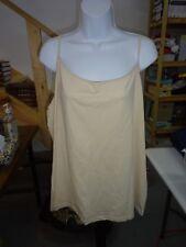 Womens size 4X 26W/28W Beige Tan Cami Tank Top Faded Glory Spaghetti Straps NEW