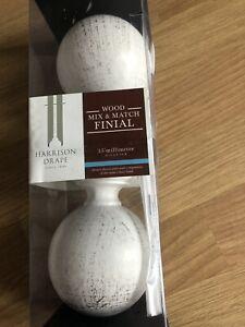 New Harrison Drape Wood Finial Ball