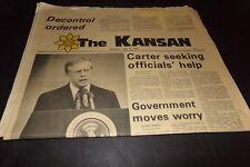 Vintage The Kansan Newspaper Jimmy Carter Seeking Help Nolan Ryan Comics 1979