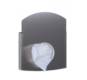 Hygienebeutelhalter Edelstahl Wandhalterung für Papier + PE/Poly-Hygienebeutel