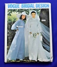 VOGUE 2058 VINTAGE BRIDAL DRESS UNCUT SEWING PATTERN SIZE 10 (VO)