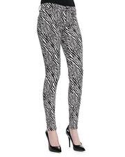 NWT $365 J BRAND Black/White Abstract Zebra Jacquard SUPER SKINNY PANTS Size 26