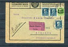 Eilboten Brief Bayern 5+20 Pf. MiF Augsburg-München - b5911