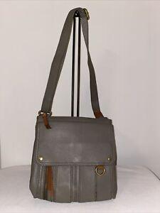 Fossil MORGAN TRAVELER Crossbody Organizer Messenger Bag Pebbled Leather