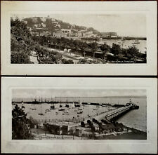 More details for torquay the pier from rock walk & rock walk 2 x antique dainotype panel cards