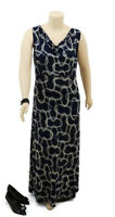 CLEAR READY TO WEAR Black Pattern Sleeveless Maxi Dress | Plus Size: 16