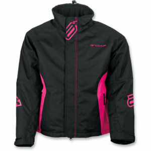 New Women's Arctiva Pivot Jacket ~ Black/Pink ~ M ~ # 3121-0663